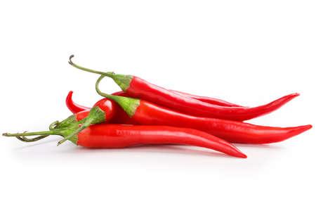 Chili auf weißem Hintergrund