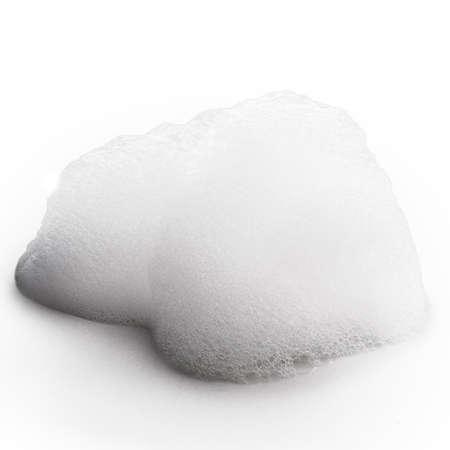 bulles de savon: mousse isolé sur fond blanc