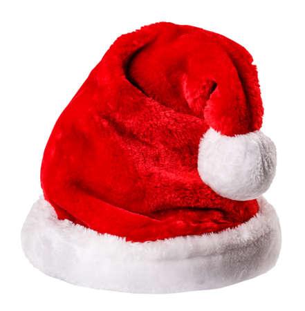 sombrero: sombrero de Santa aislado en el camino blanco blanco camino