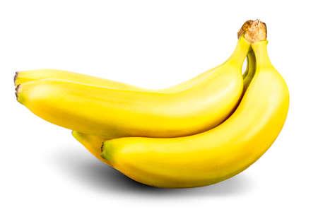 flesh colour: banana Isolated on white background