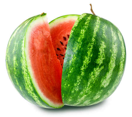 Wassermelone isoliert auf weißem Hintergrund Lizenzfreie Bilder