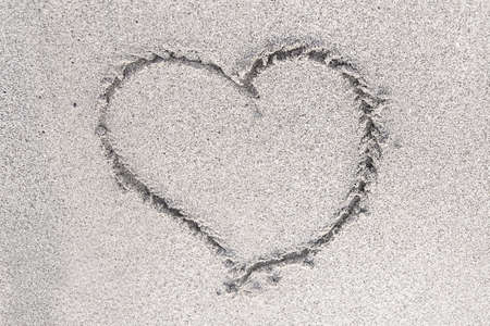 sand drawing: heart in the sand drawing symbol