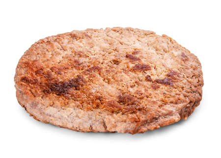 beefburger: cutlet burger isolated on a white background clipping path
