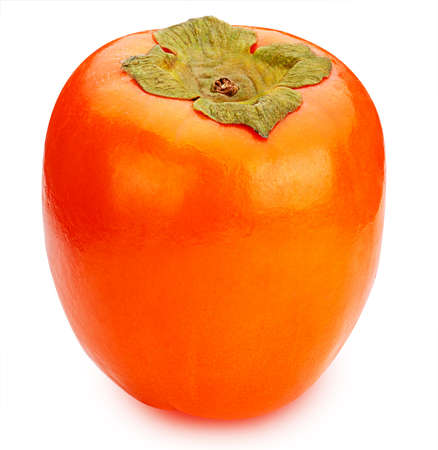 Persimmon isolated on white background clipping path Stock Photo