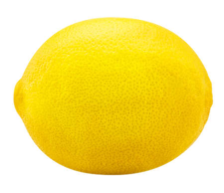 One lemon Isolated on white background