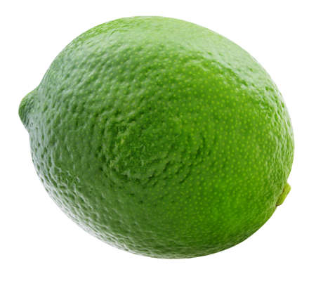 One lime Isolated on white background