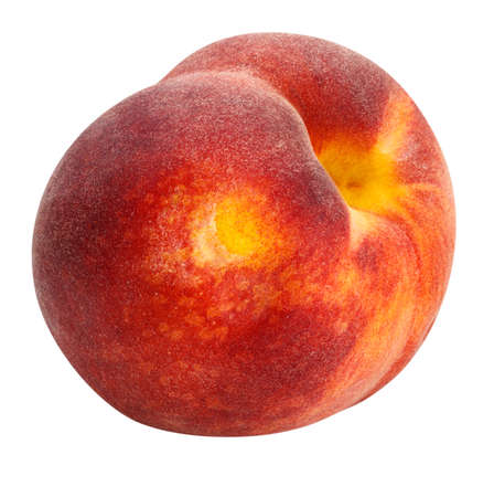 peach isolated on white background clipping path