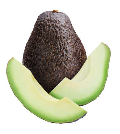 Avocado isolated on white background with clipping path Standard-Bild