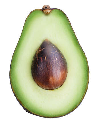 Avocado isolated on white background with