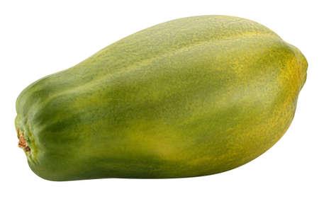 One papaya Isolated on white background Standard-Bild