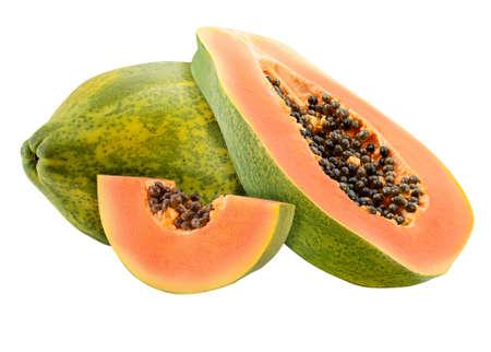 Papaya set Isolated on white background
