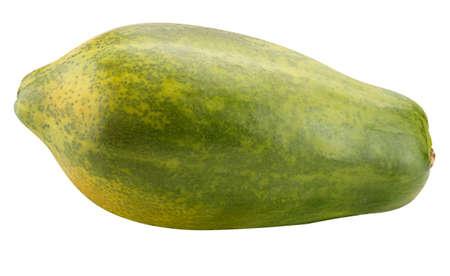 One papaya Isolated on white background Archivio Fotografico