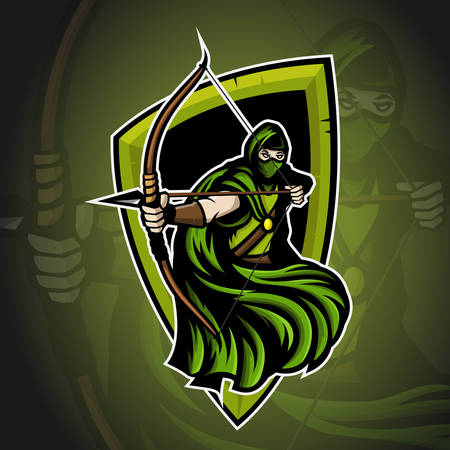Archer sport mascot icon design.