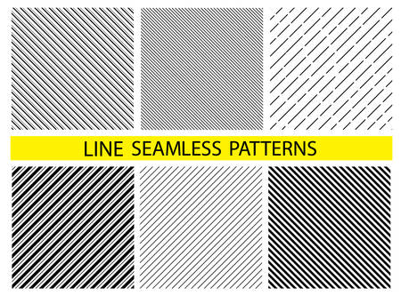 Diagonal lines set. Seamless surface pattern design with symmetrical linear ornament.