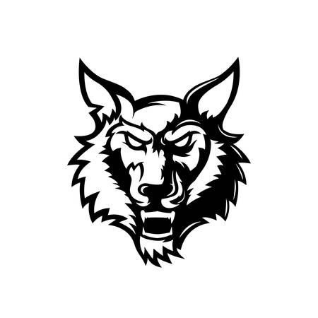 Wolf head Logo Mascot Design for esports