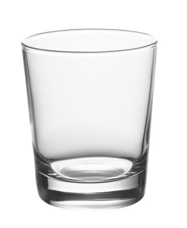 白い背景に分離された空のグラス 写真素材