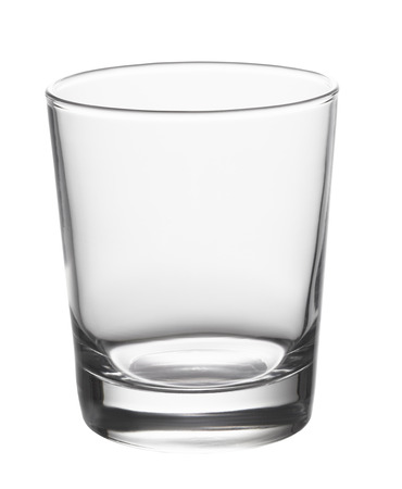 Leeg glas geïsoleerd op witte achtergrond Stockfoto