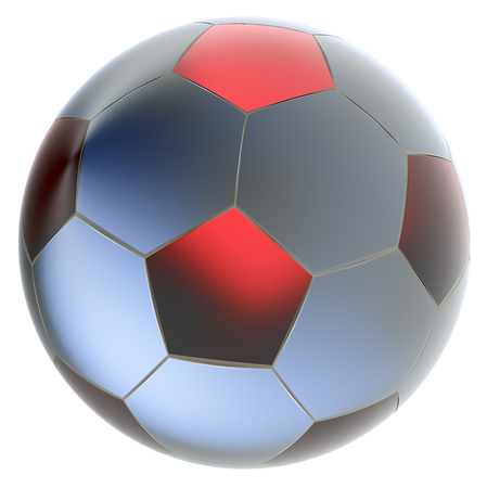 pellucid: Glass soccer ball. Isolated on white background. Include clipping path. 3d render Stock Photo