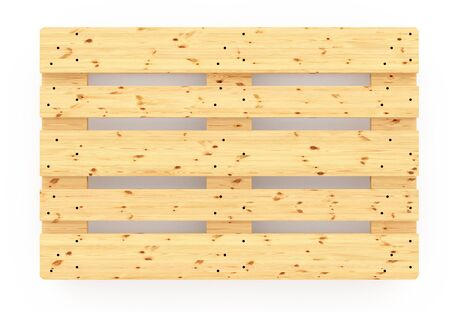 euro pallet: Euro pallet. Isolated on white background. Include clipping path. 3d render Stock Photo