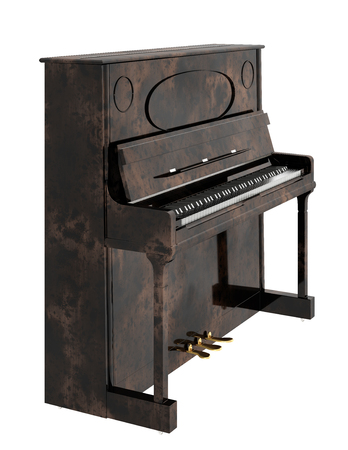 Piano. Isolated on white background. 3d render