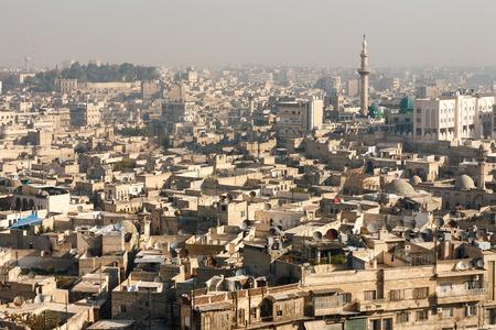 Aleppo, Syrië. Uitzicht op de stad