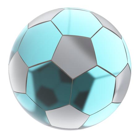 pellucid: Glass soccer ball. Isolated on white background.  3d render