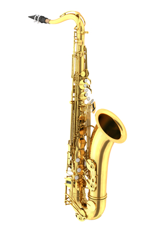 Tenor saxophone. Isolated on white background. 3d render Stock Photo