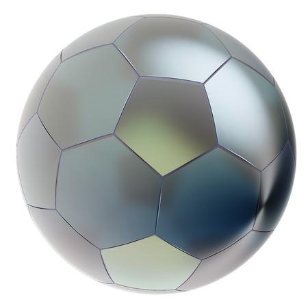 pellucid: Glass soccer ball. Isolated on white background. 3d render Stock Photo