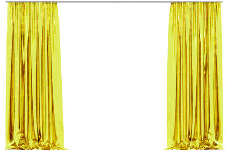 show window: Curtain isolated on white background. 3D illustration Stock Photo