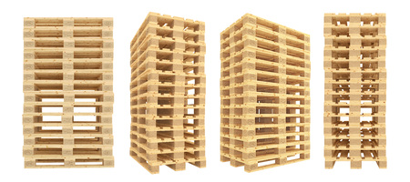 euro pallet: Euro pallets. Isolated on white background. 3d render