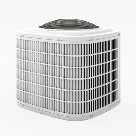 Central air conditioner. Isolated with clipping path. 3d render.