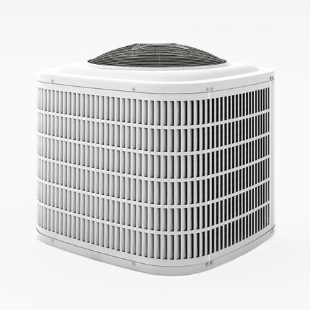 Centrale airconditioner. Geïsoleerd met uitknippad. 3d render. Stockfoto