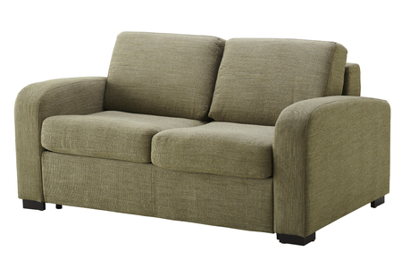 Sofa isolated on white. Include clipping path Stock Photo