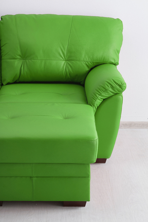 Leather sofa isolated against the wall Stock Photo