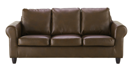 Leather sofa isolated on white background. Include clipping path.