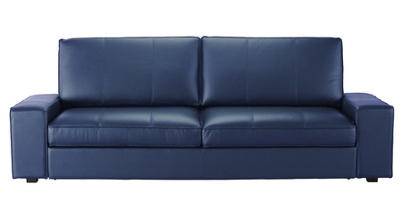 Leather sofa isolated on white. Include clipping path Stock Photo
