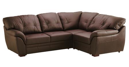 Leather sofa isolated on white background. Stock Photo