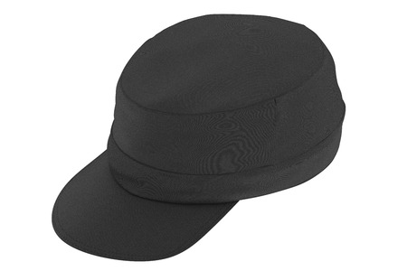 Black cap isolated on white background. Include clipping path. 3d render Stock Photo