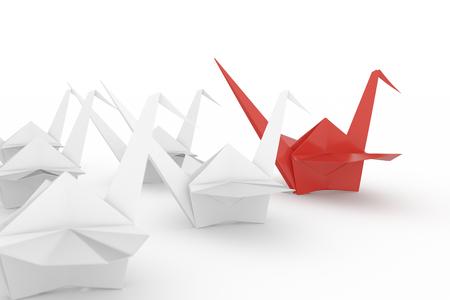 Leiderschapskoncept. Geïsoleerd op een witte achtergrond. Inclusief clipping path. 3D render. Stockfoto