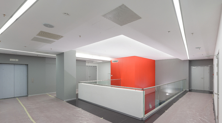 Empty office renovated office space