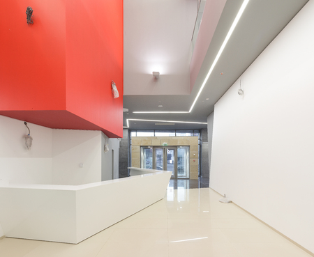 Empty office renovated reception in modern building