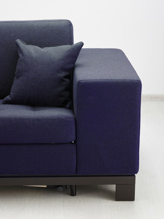 living room design: Sofa isolated in room. Stock Photo