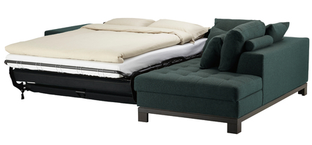 Couch bed isolated on white. Include clipping path