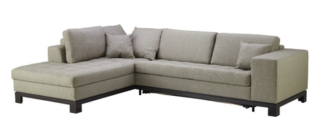 living room design: Sofa furniture isolated on white background. Include clipping path.