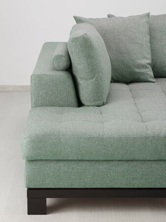 living room design: Sofa furniture isolated in room