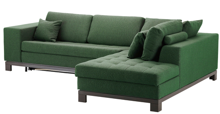 Corner sofa isolated on white. Include clipping path
