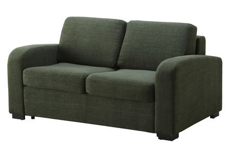 Green corner sofa  isolated on white