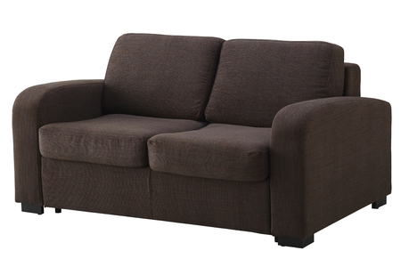 Brown corner sofa isolated on white