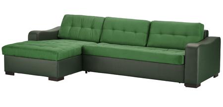 Leather corner sofa isolated on white Stock Photo
