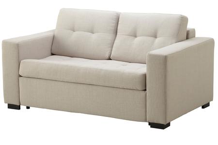 White sofa isolated on white